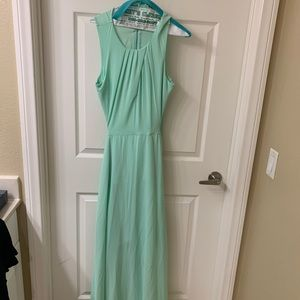 Mint green formal dress